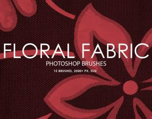Free Floral Fabric Photoshop Brushes Photoshop brush