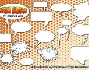 Speech Bubbles PS Brushes abr  vol 4 Photoshop brush
