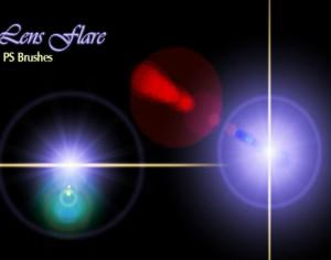 20 Lens Flares PS Brushes abr vol.11 Photoshop brush