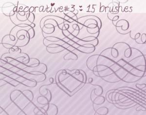 Decorative Brushes 3 Photoshop brush