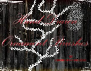 Hand-drawn Ornaments Brushes Photoshop brush