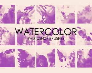 Free Watercolor Wash Photoshop Brushes 2 Photoshop brush