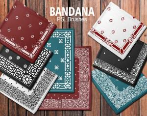 20 Bandana PS Brushes.abr vol.3 Photoshop brush