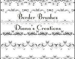Elegant Border Brushes Photoshop brush