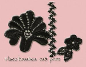 4 lace brushes Photoshop brush