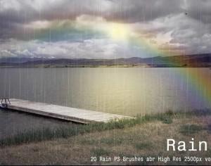 20 Rain PS Brushes abr vol.3 Photoshop brush
