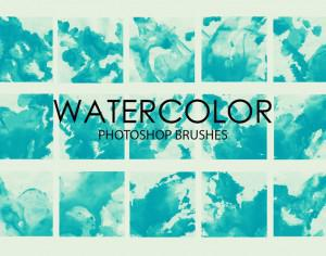 Free Watercolor Wash Photoshop Brushes Photoshop brush