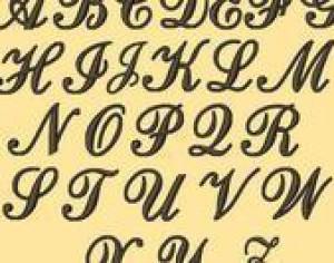 Elegant Letters Brushes  Photoshop brush