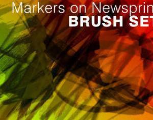 Markers on Newsprint Photoshop brush