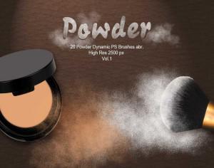 20 Powder Dynamic PS Brushes.abr  Vol.1 Photoshop brush
