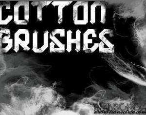 Cotton Brushes Photoshop brush