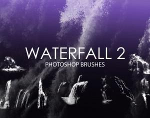 Free Waterfall Photoshop Brushes 2 Photoshop brush