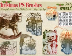 Vintage Christmas Card PS Brushes abr. Photoshop brush