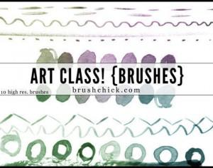 art class watercolor lines Photoshop brush