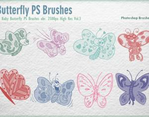 Baby Butterfly PS Brushes abr. Photoshop brush