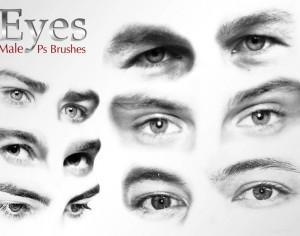 20 Male Eyes Ps Brushes vol.3 Photoshop brush
