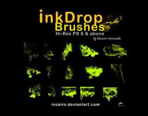 InkDrop Brushes (Full-Set) Photoshop brush