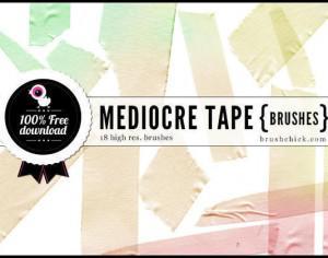 Mediocre Tape Brushes Pt. 1 Photoshop brush