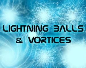 8 Lightning Ball Brushes & Vortices Photoshop brush