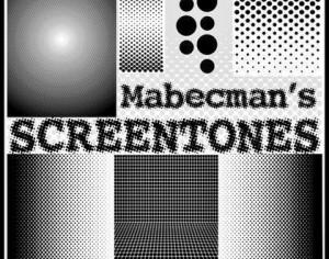 Mabecman's SCREENTONES Halftone Brushes Photoshop brush