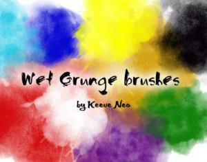 Wet Grungy Brushes Photoshop brush