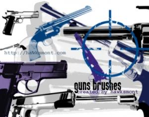 Guns Photoshop brush