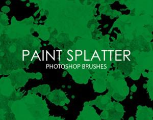 Free Paint Splatter Photoshop Brushes Photoshop brush