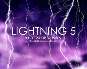 Free Lightning Photoshop Brushes 5 Photoshop brush