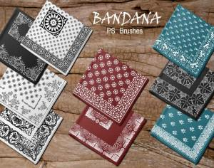 20 Bandana PS Brushes.abr vol.2 Photoshop brush