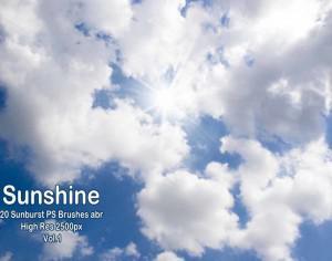 20 Sunburst PS Brushes abr Vol.1 Photoshop brush