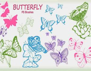 20 Butterfly PS Brushes abr.Vol.6 Photoshop brush