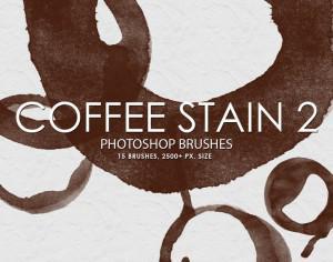 Free Coffee Stain Photoshop Brushes 2 Photoshop brush