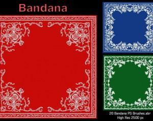 20 Bandana PS Brushes.abr Photoshop brush
