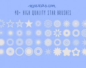 40+ stars photoshop brushes Photoshop brush