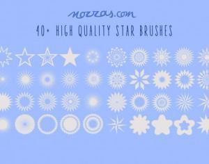 40+ stars photoshop brushes Photoshop brush