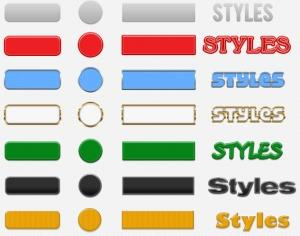 Button Styles Photoshop brush