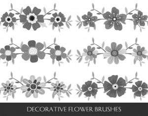Decorative Flower Brushes Photoshop brush