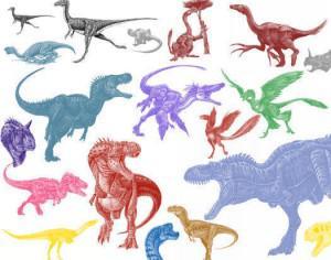 Mix Dinosaur Brushes Photoshop brush