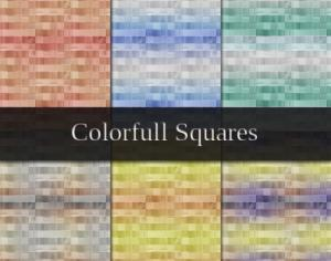 Colorful Squares Photoshop brush