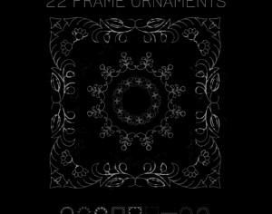 9 Frame Ornaments Photoshop brush