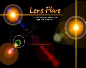 20 Lens Flares PS Brushes abr  vol.7 Photoshop brush