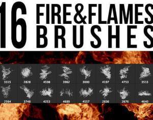 Fire & Flames Brushes Photoshop brush