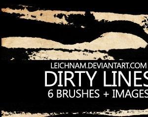 Dirty Lines Brushes Photoshop brush