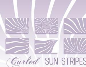 Curled Sun Stripes Photoshop brush