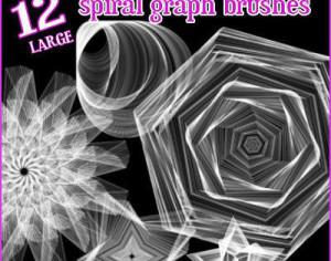 spiralgraph brush set Photoshop brush
