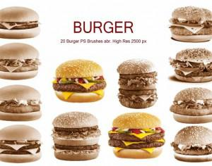 20 Burger PS Brushes abr. vol.1 Photoshop brush