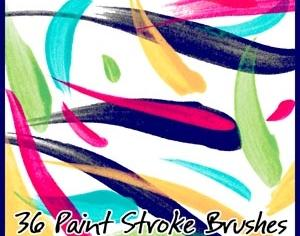 Paint Stroke Brushes Photoshop brush