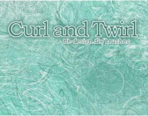 Curl and twirl Photoshop brush