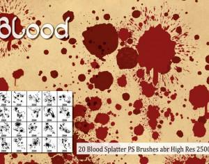 Blood Splatter PS Brushes abr Photoshop brush