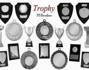 20 Trophy PS Brushes abr.vol.7 Photoshop brush